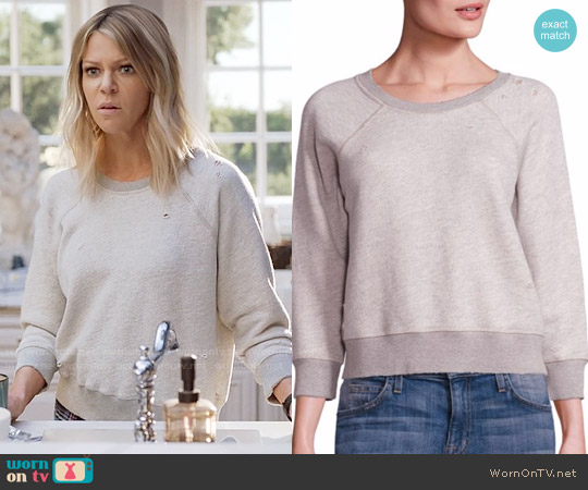 n:Philanthropy Gayla Distressed Sweatshirt worn by Kaitlin Olson on The Mick