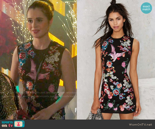 Nasty Gal Take Flight Dress worn by Vanessa Marano on Switched at Birth