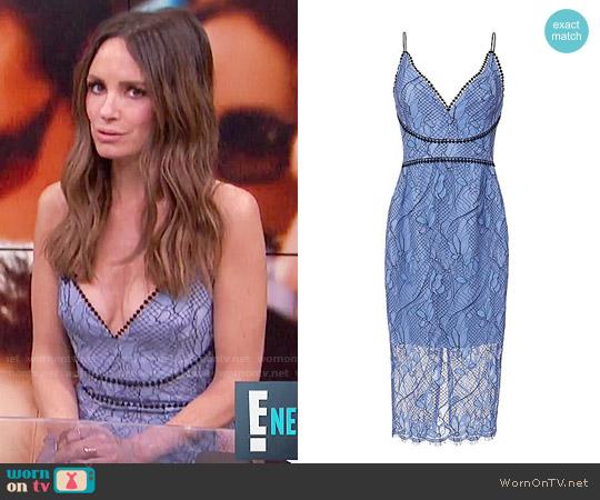 Nicholas Blue Lace Dress worn by Catt Sadler  on E! News