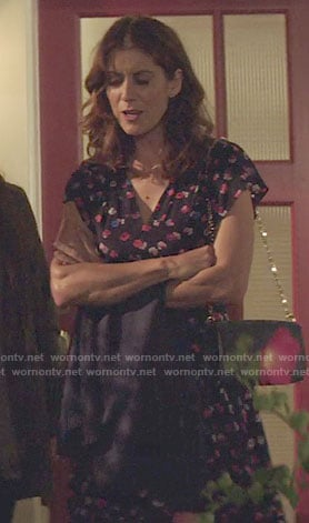 Olivia's floral date night dress on 13 Reasons Why