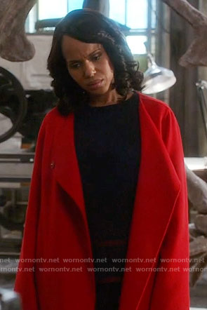 Olivia's red coat on Scandal