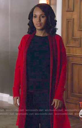 Olivia's red cardigan on Scandal
