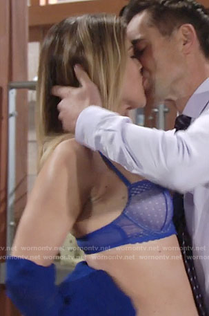 Phyllis's blue bra on The Young and the Restless