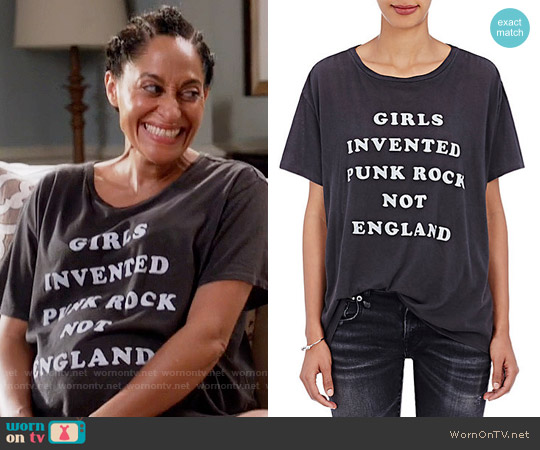R13 Kim Gordon Boy T-shirt worn by Tracee Ellis Ross on Blackish