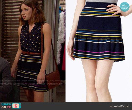 RACHEL Rachel Roy Striped Flared Skirt worn by Coco Spectra on The Bold & the Beautiful