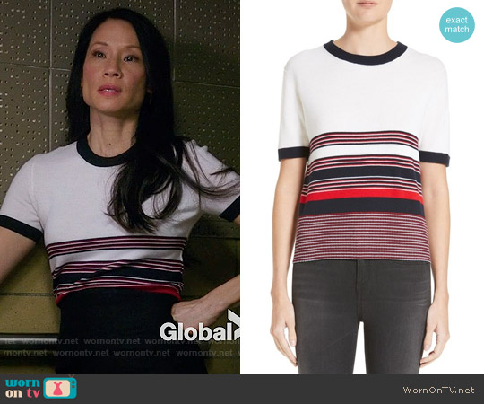 Rag & Bone Krista Top worn by Lucy Liu on Elementary