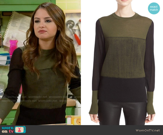 Rag & Bone Marissa Sweater worn by Aimee Carrero on Young & Hungry