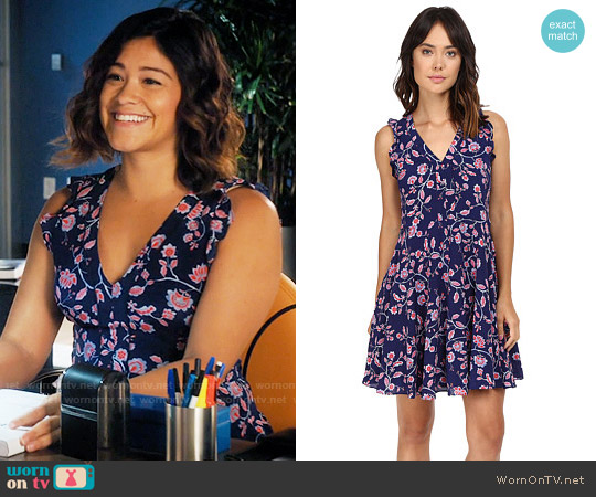 Rebecca Taylor Kyoto Dress worn by Gina Rodriguez on Jane the Virgin
