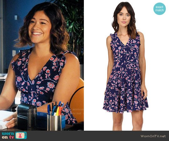 Rebecca Taylor Kyoto Dress worn by Jane Villanueva (Gina Rodriguez) on Jane the Virgin