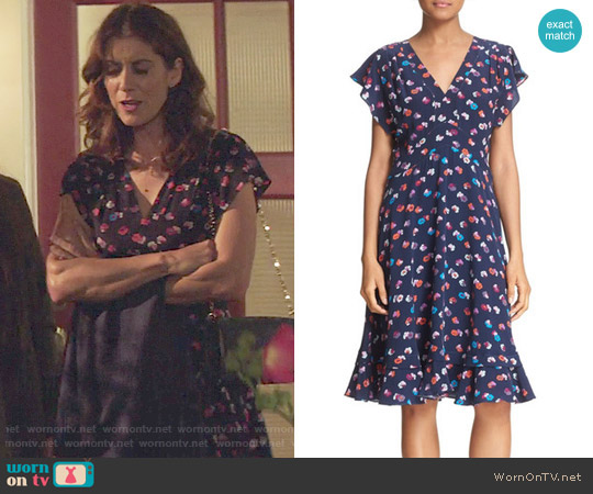 Rebecca Taylor Sakura Dress worn by Kate Walsh on 13 Reasons Why