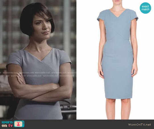 Roland Mouret Tournay Dress worn by Grace Gealey on Empire