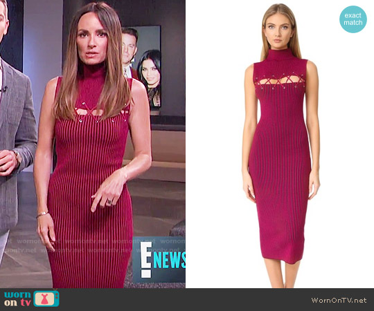 Ronny Kobo Jerica Knit Dress worn by Catt Sadler  on E! News