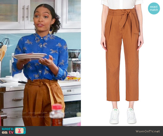 Sandro Paz Trousers worn by Zoey Johnson on Blackish