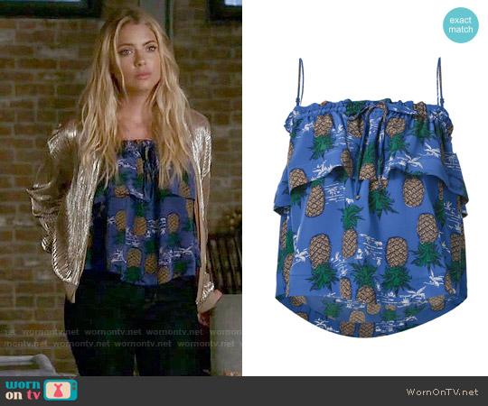Sea Silk Pineapple Print Top worn by Hanna Marin on PLL