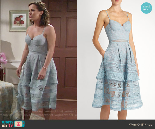 Self Portrait Paisley Midi Dress worn by Chelsea Lawson (Melissa Claire Egan) on The Young & the Restless