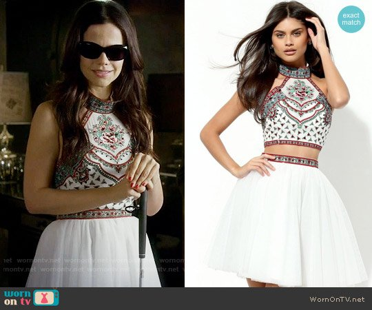 Sherri Hill 50645 Dress in White worn by Tammin Sursok on PLL