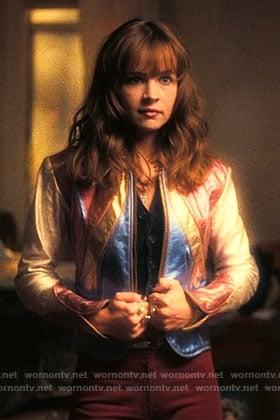 Sophia's leather jacket on Girlboss