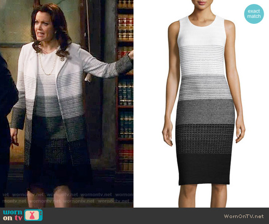 St John Collection Linear Degrade Knit Sheath Dress worn by Bellamy Young on Scandal