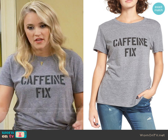 Sub_Urban Riot Caffeine Fix Graphic Tee worn by Emily Osment on Young & Hungry