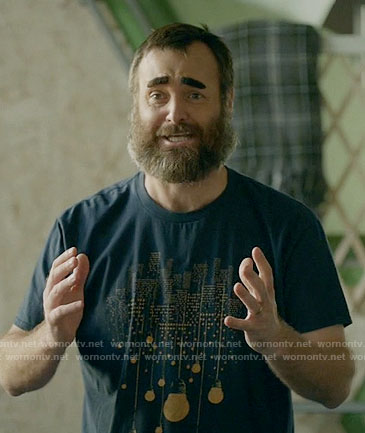 Tandy's city lights graphic tee on Last Man on Earth