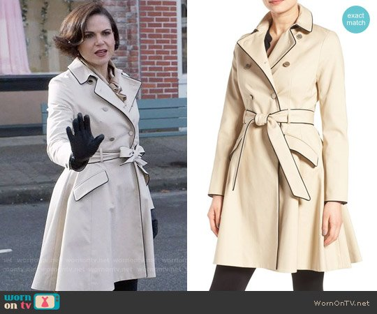 WornOnTV: Regina's trench coat with black trim on Once Upon a Time