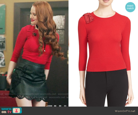 Ted Baker Callah Sweater worn by Cheryl Blossom (Madelaine Petsch) on Riverdale