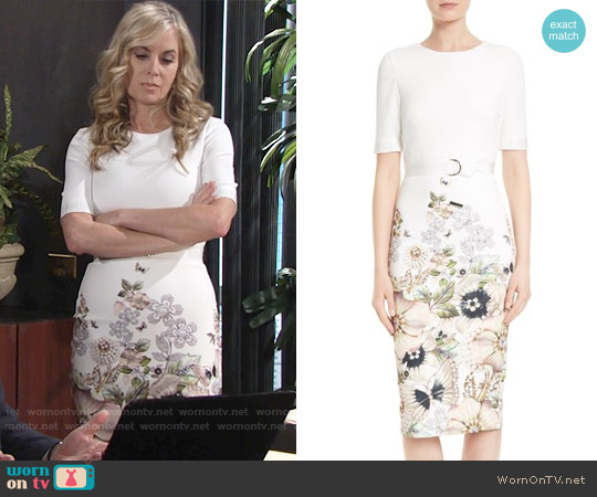 Ted Baker Layli Dress worn by Eileen Davidson on The Young & the Restless
