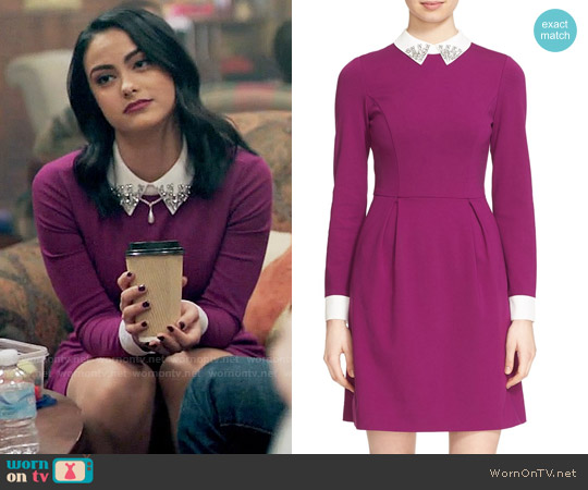 Ted Baker Moona Dress worn by Camila Mendes on Riverdale