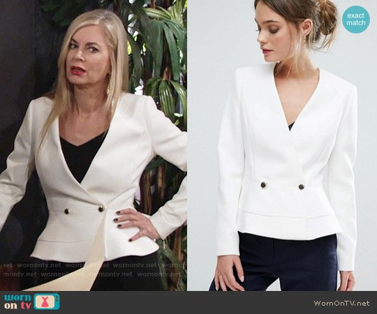 Ted Baker Silaa Jacket worn by Eileen Davidson on The Young & the Restless
