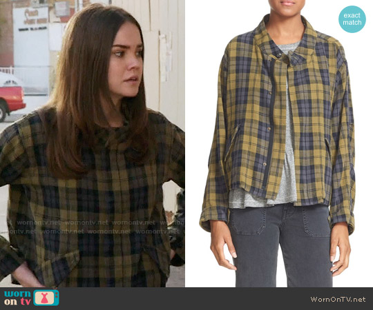 The Great Plaid Jacket worn by Callie Jacob (Maia Mitchell) on The Fosters