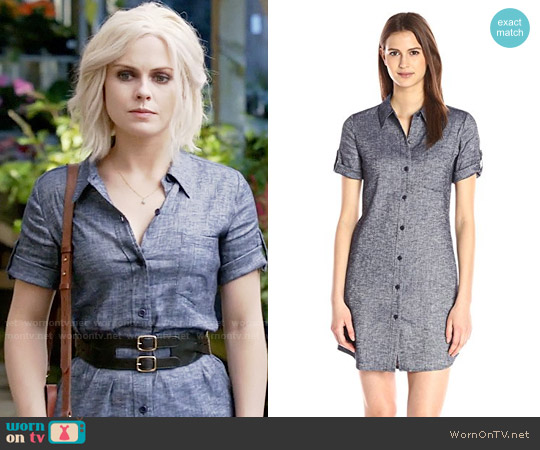 Theory Mayvine Shirtdress in Deep Denim worn by Liv Moore (Rose McIver) on iZombie