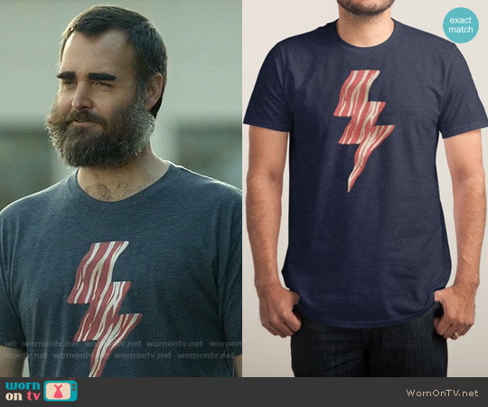 Threadless Powered by Bacon worn by Will Forte on Last Man On Earth