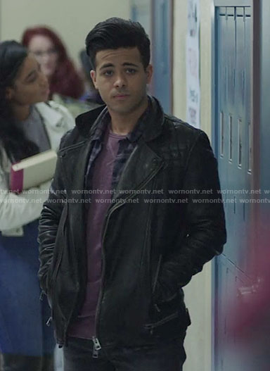 Tony's leather jacket on 13 Reasons Why