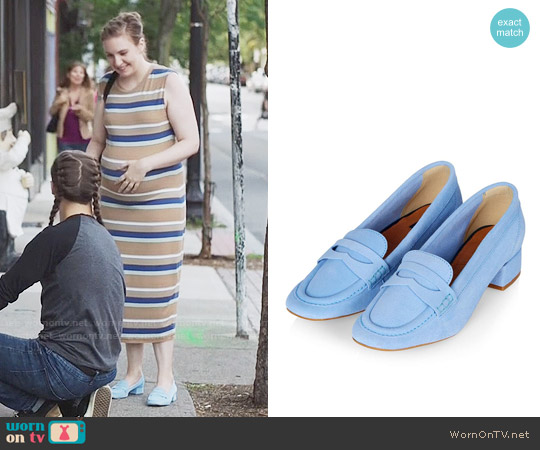 Topshop Blue Kave Loafer worn by Hannah Horvath on Girls