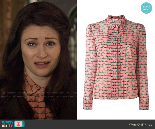 RED Valentino Heart Print Shirt worn by Belle (Emilie de Ravin) on OUAT