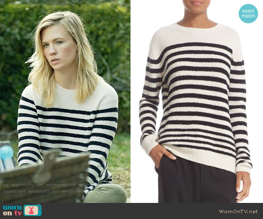Vince Engineered Stripe Wool Blend Pullover worn by January Jones on Last Man On Earth