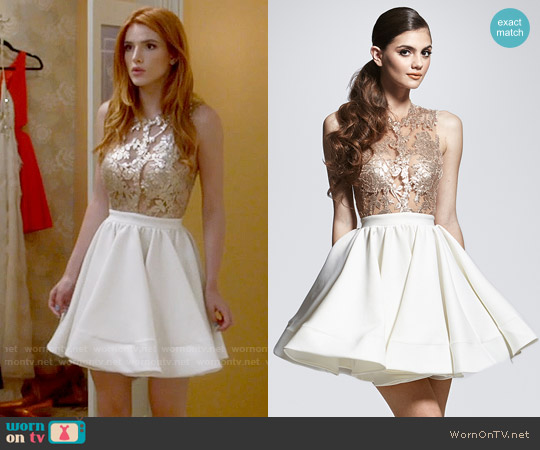 Walter Mendez Belle Dress worn by Paige Townsen (Bella Thorne) on Famous in Love