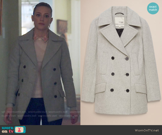Wilfred Free Boyd Coat in Heather Dark Comet worn by Lili Reinhart on Riverdale