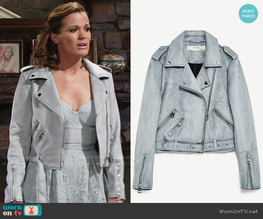 Zara Jacket with Zips worn by Chelsea Lawson (Melissa Claire Egan) on The Young & the Restless