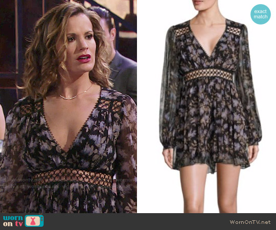 Zimmermann Stranded Empire Waist Silk Romper worn by Melissa Claire Egan on The Young & the Restless