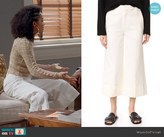 10 Crosby Derek Lam Wide Cuff Culottes worn by Zoey Johnson on Blackish