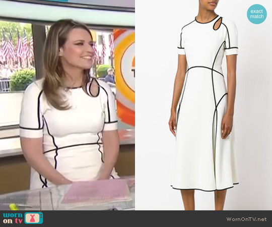 Contrast Trim Dress by Alexander Wang worn by Savannah Guthrie  on Today