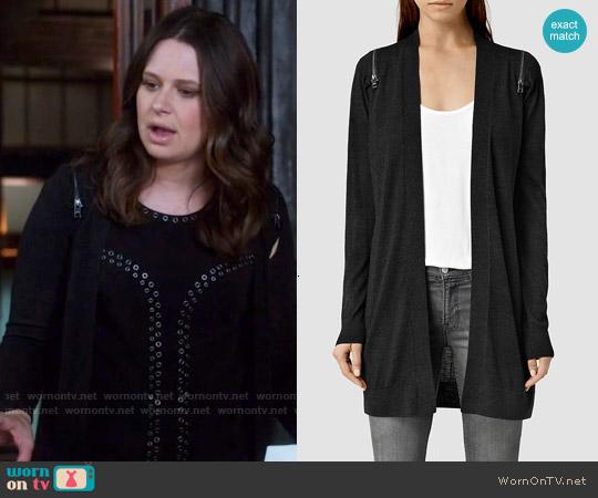 All Saints Dash Cardigan worn by Quinn Perkins on Scandal