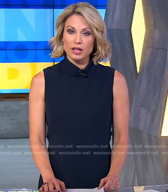 Amy's black mock neck dress on Good Morning America