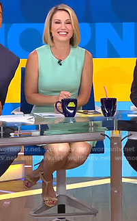Amy's green sleeveless dress on Good Morning America