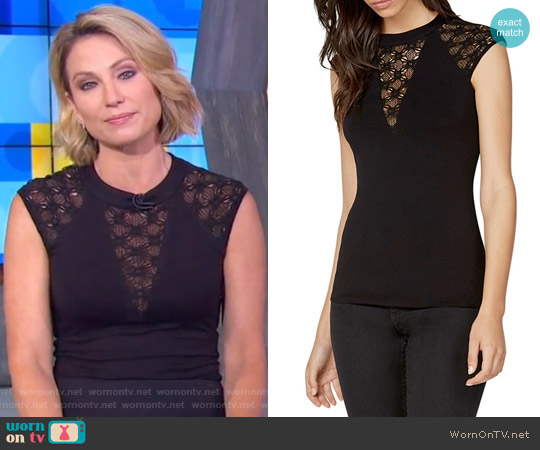 Yuca Top by Bailey 44 worn by Amy Robach  on Good Morning America