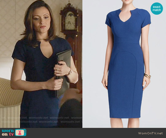 Black Halo Gypsy Rose Sheath worn by Emily Rhodes (Italia Ricci) on Designated Survivor