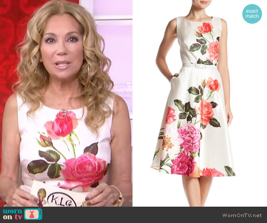 Floral Fit & Flare Dress by Chetta B worn by Kathie Lee Gifford  on Today