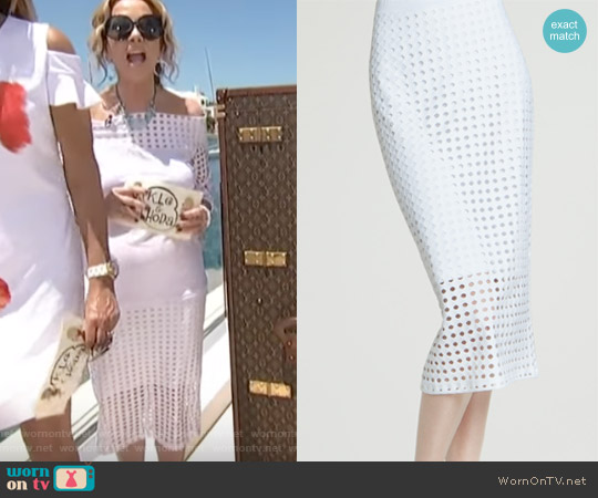Perforated Knit Skirt by Clara Sunwoo worn by Kathie Lee Gifford on Today