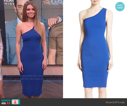 Diane von Furstenberg One-Shoulder Knit Midi Dress worn by Maria Menounos on E! News